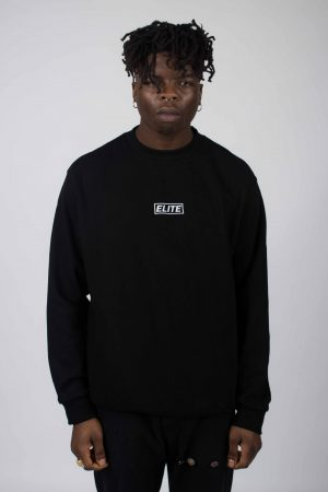 elite clothing black sweater