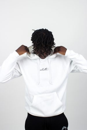 elite signature hoodie white